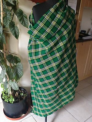 African Masai Shuka cloth - Green, Yellow