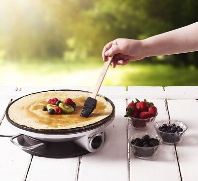 Commercial Crepe Maker Electric Pancake Pan Griddle Kitchen Breakfast Cooking