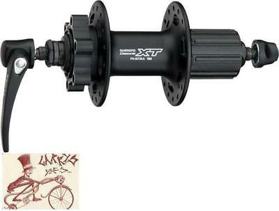 Shimano Xt M756A 10-Speed 36H Quick Release 6-Bolt Disc Black Rear H