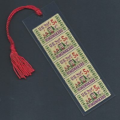 America's Homemakers Needlepoint Stamps Bookmark Unique!