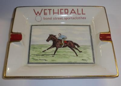 Vintage 'Wetherall' Hand Painted Horse Racing Theme China Ash Tray