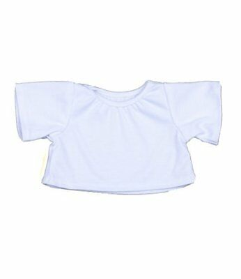 White T-Shirt By Teddy Mountain Fits 15 Build A Bear Factory Bears And Animals