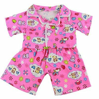 Pink Cute Teddy PJs Pyjamas Outfit Teddy Bear Clothes fits 15-16 inch 40cm Ted