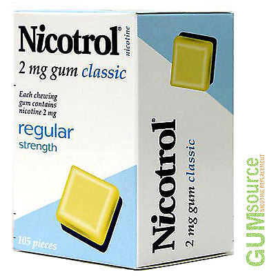Nicotrol 2mg CLASSIC  1 dented box 105 pieces Nicotine Quit Smoking Gum
