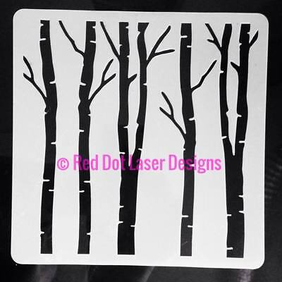 Trees Stencil #2 Various Sizes Crafts Cards Cakes Mylar Art