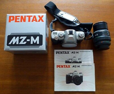 PENTAX MZ-M camera body with PENTAX strap and box plus PENTAX-F ZOOM 28-80 lens