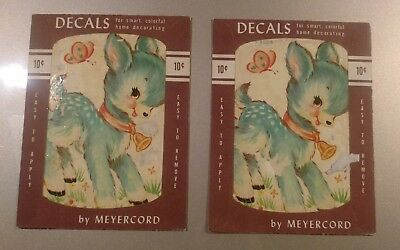 2 Antique Meyercord Decals unused Rare..Free shipping..