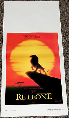 THE LION KING 1994 ORIGINAL 13x28 ITALIAN MOVIE POSTER! DISNEY ANIMATION CLASSIC