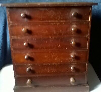 Victorian collectors chest in need of restoration