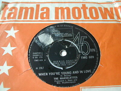"The Marvelettes - When You're Young And In Love - Tamla 7"" Tmg 609"