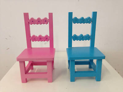 NWOT - Girls Molly N Me Pink and Blue Doll Chair - Set of 2