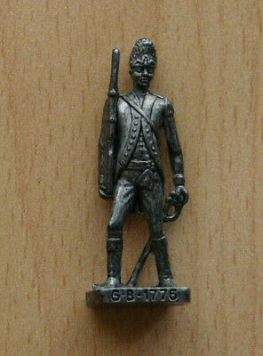 Figurine Kinder métal soldat G.B. 1776 fer vernissé/brillant SCAME TBE 40 mm.
