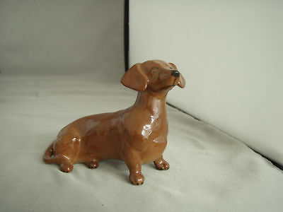 Vintage Beswick Glossy Red Dachshund, mint condition