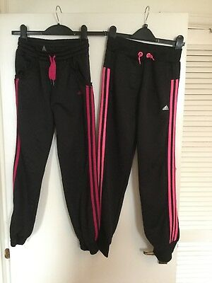 Girls Two Adidas Tracksuit Bottoms 11-12 Years