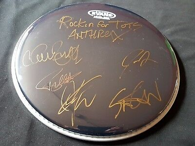 Anthrax Signed Drum Head
