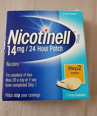 Brand New Nicotinell 14mg 24 Hour Patch 7 Day Supply Step 2 -  12/17 Expiry
