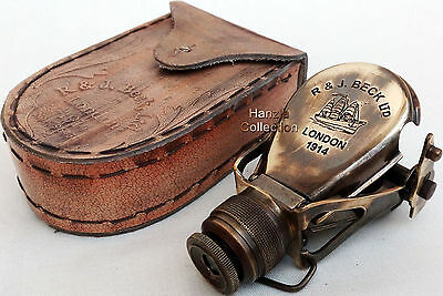 Monocular Binocular Brass Telescope Vintage Antique Nautical Spyglass Scope