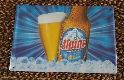 Alpine Lager from Saint John, NB, Beer Sign Mancave