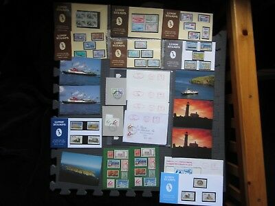 Lundy Island - Stamps And Postcards Collection (see pics) 23 Items