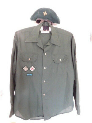 Vintage Scout shirt and beret with badges