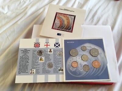 1991 Uncirculated UK Royal Mint Coin Collection - Mint Condition