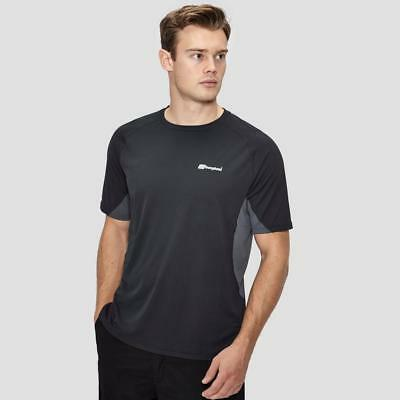 Berghaus Mens Short-Sleeve Crew Neck Technical T-Shirt Casual Short Sleeve Black