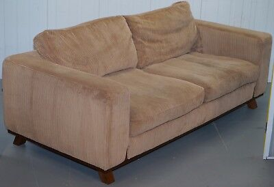 Rare Rrp £14,000 David Linley Dunwick Velvet Upholstered Walnut Framed Sofa