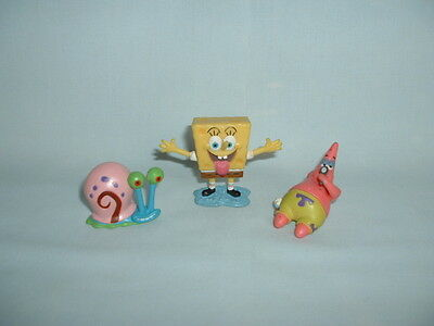SPONGEBOB SQUAREPANTS Set Of 3 Figure Toys PATRICK/GARY/NICKELODEON/CAKE TOPPERS