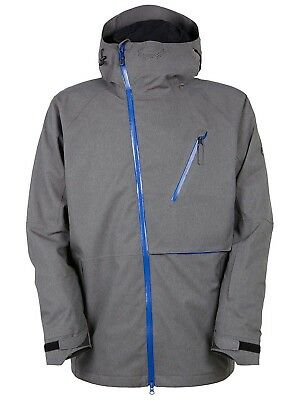 (Small, steel rip stop) - 686 Glacier Hydra Thermagraph Snow Jacket - Blue