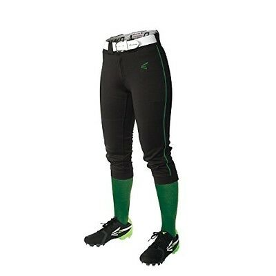 (X-Large, Black/Green) - Easton Women's Mako Piped Pants. Free Shipping