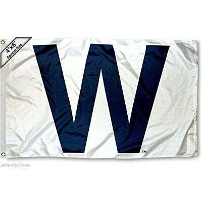 Chicago Cubs W Win Large 1.2mx1.8m Large Flag. WinCraft. Shipping Included