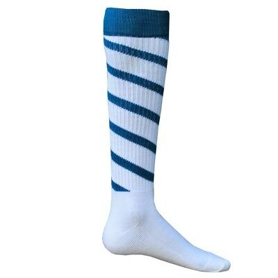 (Small, White/Turquoise) - Red Lion Cyclone Athletic Socks. Red Lion Socks