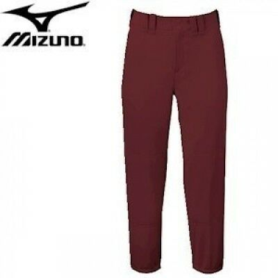 Mizuno Select Belted Low Rise Fastpitch Pant - Maroon - XS. Free Shipping
