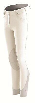 (34 Regular, White) - Tredstep Rosa Ladies Knee Patch Breech. Tredstep Ireland