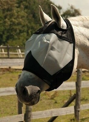 (Pony) - Rhinegold Horses Fly Mask Without Ears. Delivery is Free