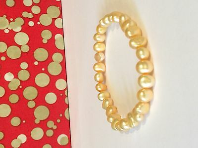 Honora stretch pearl bracelet, pale gold shade, new!