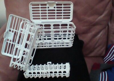 Dishwasher baskets for baby feeding bottles