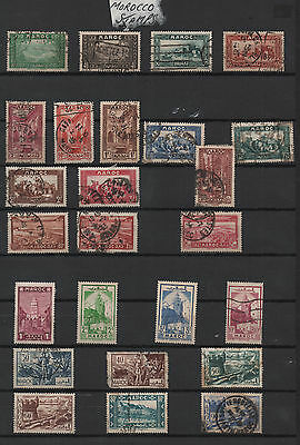 Morocco Stamp Selection  -  45 Stamps  -  Both Mint and Used  -  See Both Scans