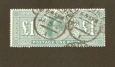 SG266  £1 Green Used - High Cat Value