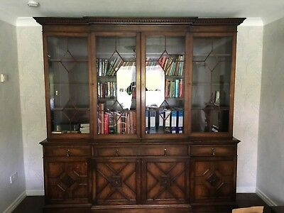 Victorian Breakfront Library Bookcase - Robson & Son
