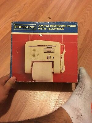 Vintage Hopesonic am/fm restroom radio with telephone