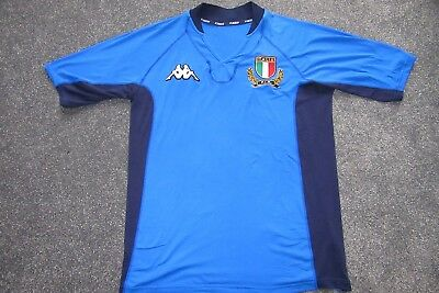 2001 2002 Italy Rugby Union Shirt Adults Nice Spandex Material