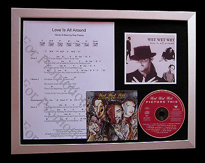 WET WET WET Love Is All Around CD QUALITY MUSIC FRAMED DISPLAY+FAST GLOBAL SHIP