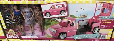 Barbie Ultimate Limo & Fashionistas Dolls M Limousine Car Set  New