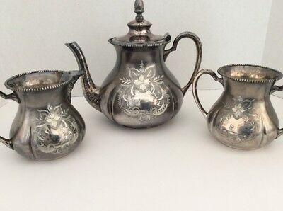 Vintage Silver Plated Quadruple Tea Set