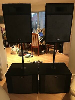 Peavey Pro 15 Speakers including Sub and Kam KMR1000 Amplifier