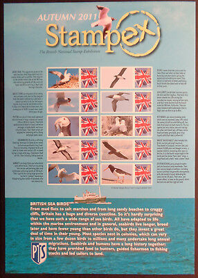 Stampex Autumn 2011 GB Business Smilers Sheet - BC350   MNH