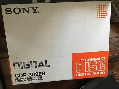 Sony CDP-302ES Boxed Compact Disc Player Digital Audio Separates With Remote Cd