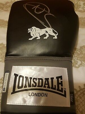 Boxing Nathan Cleverly Signed 16oz Lonsdale Boxing Glove.