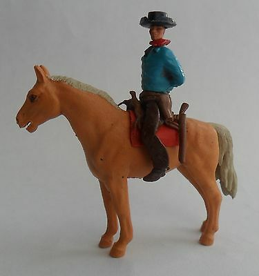 Britains 2nd series swoppet mounted cowboy - VG condition